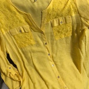 Beautiful, bright yellow blouse